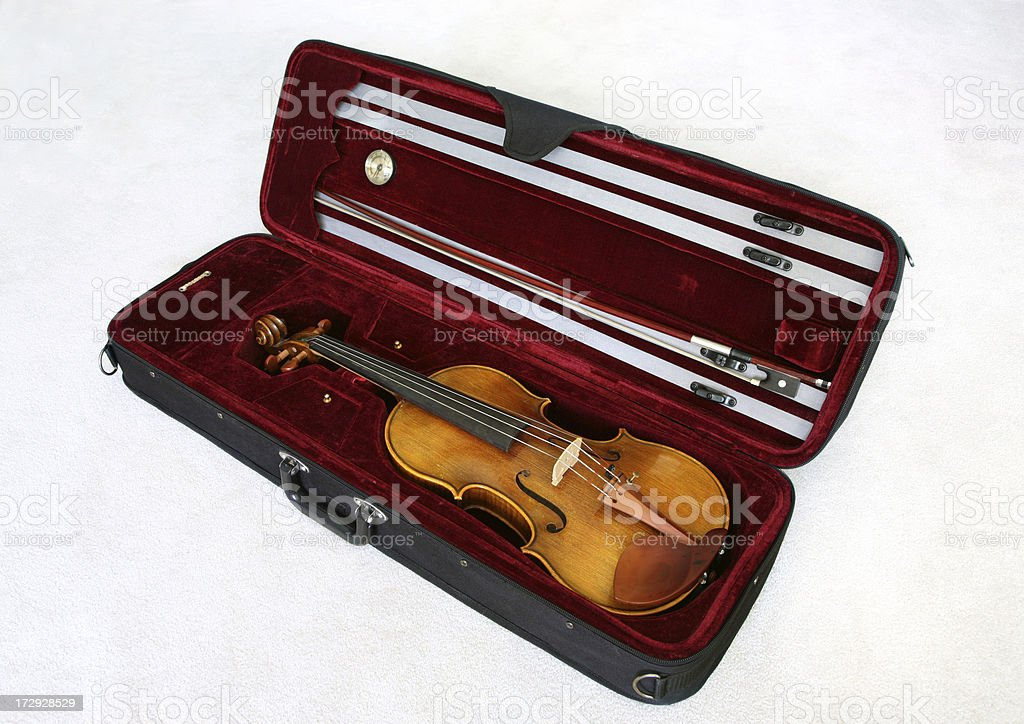 Violin and Case stock photo