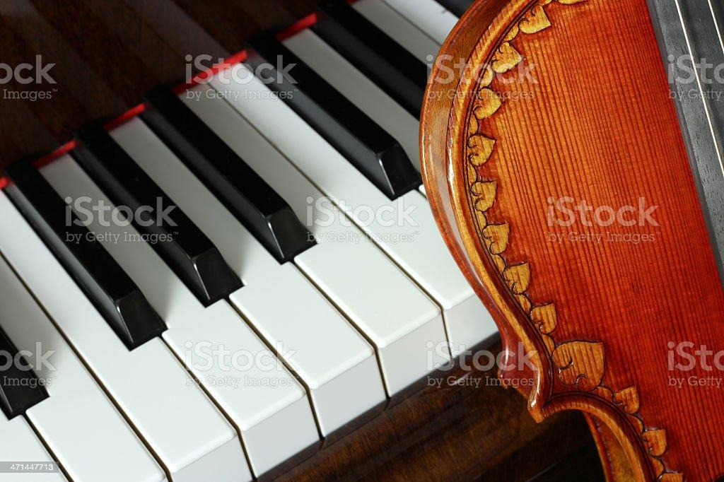 Violin and Piano royalty-free stock photo