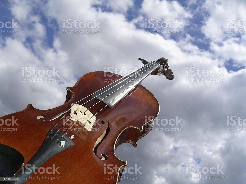 Violin And Sky stock photo