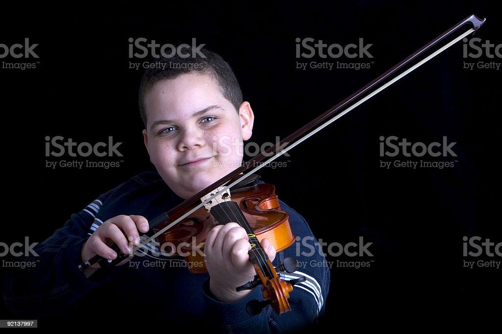 Violin boy royalty-free stock photo