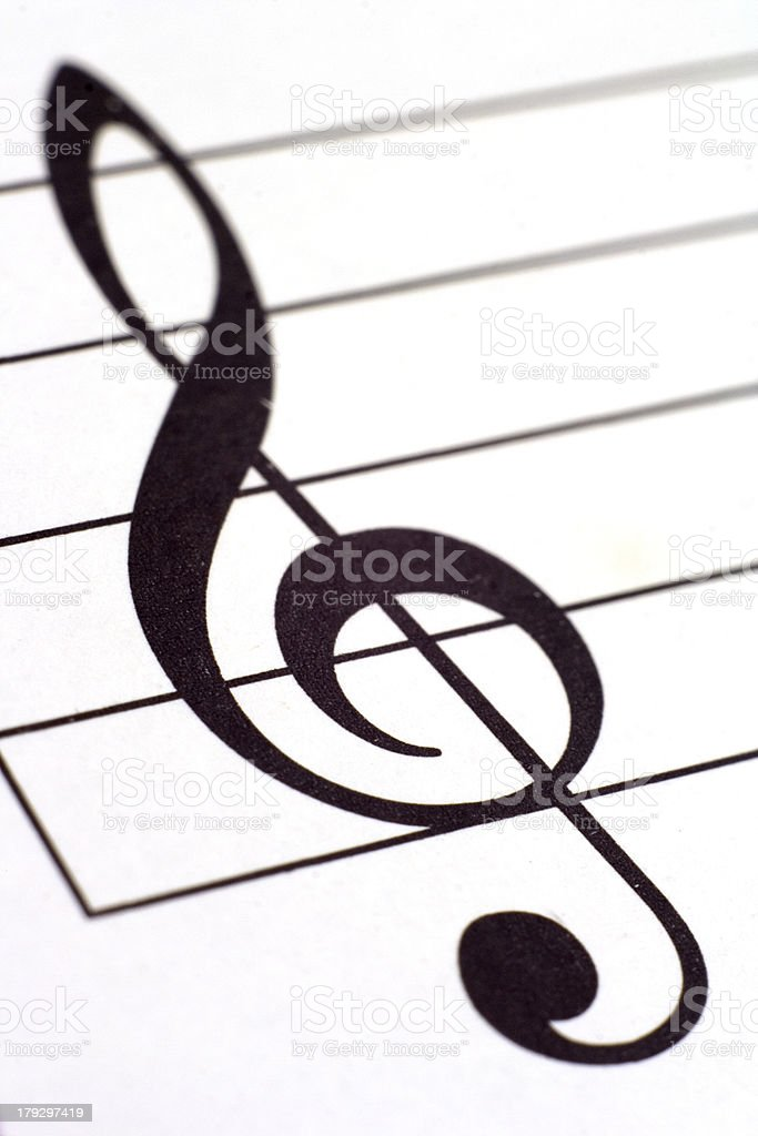 Violin clef royalty-free stock photo