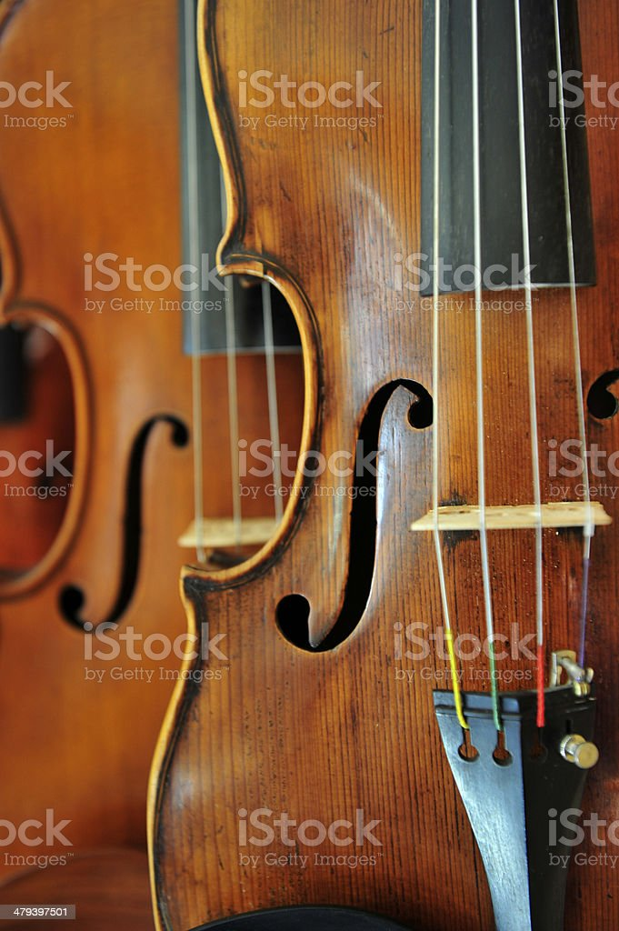 Violin Close stock photo