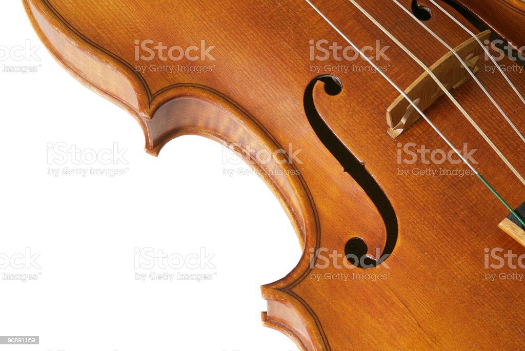 Violin F hole 2 royalty-free stock photo