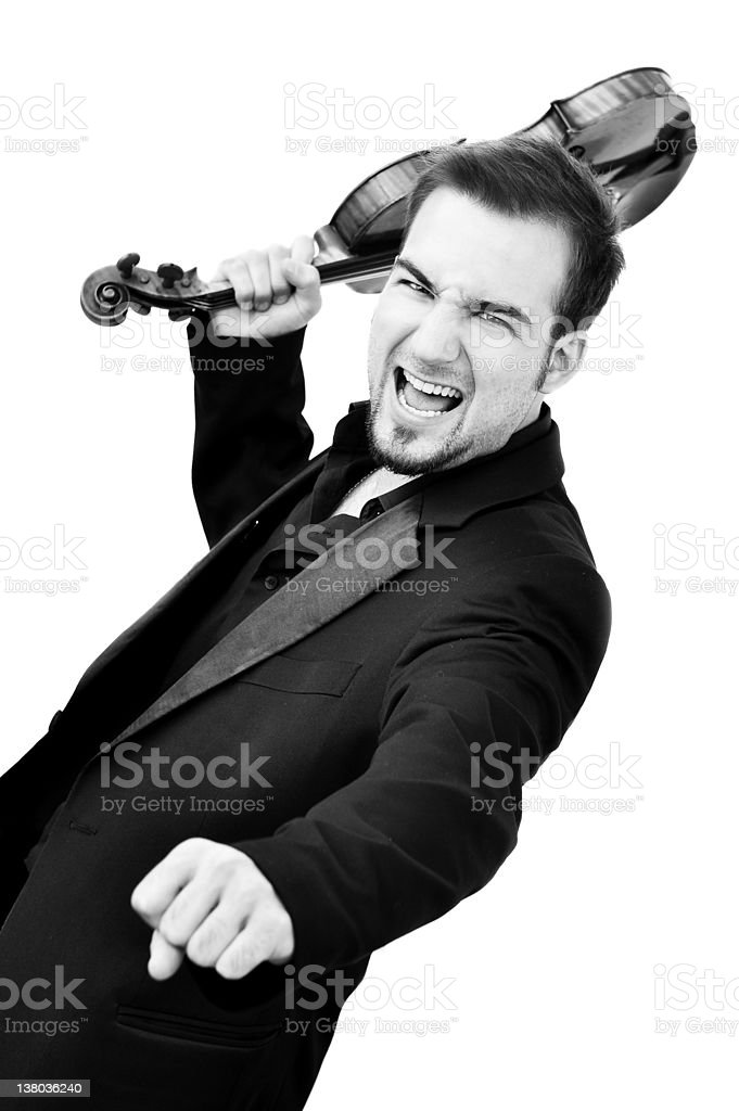 violin fights stock photo