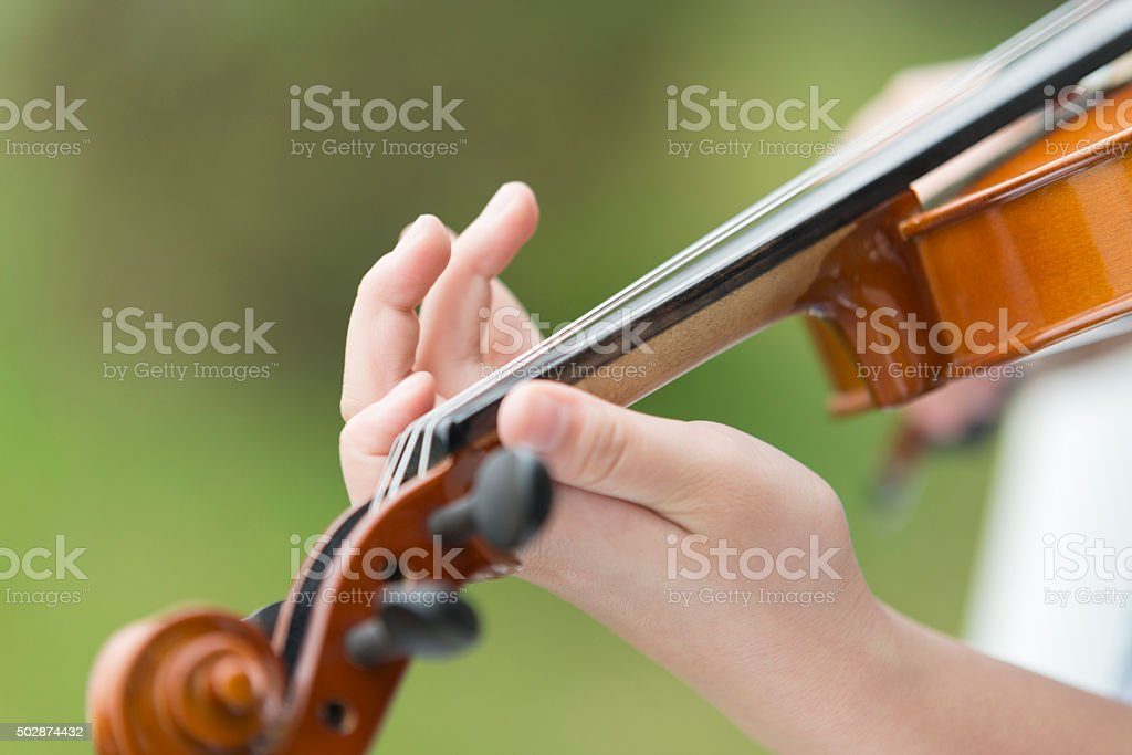 Violin Fingerboard stock photo