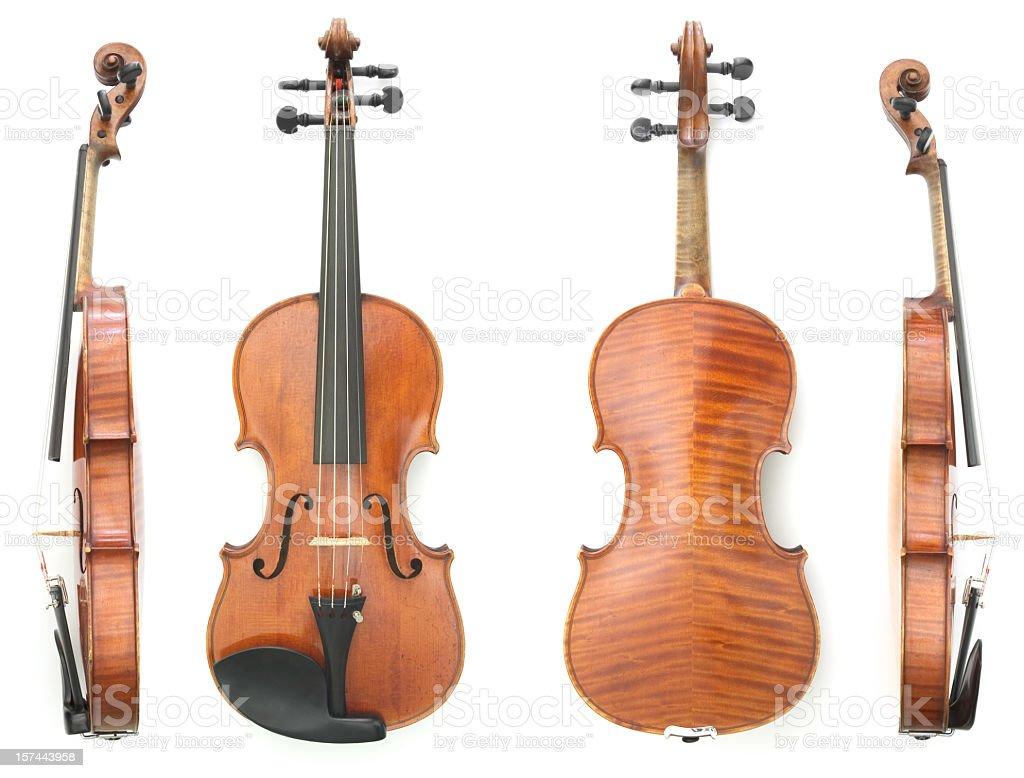 Violin Four Views stock photo