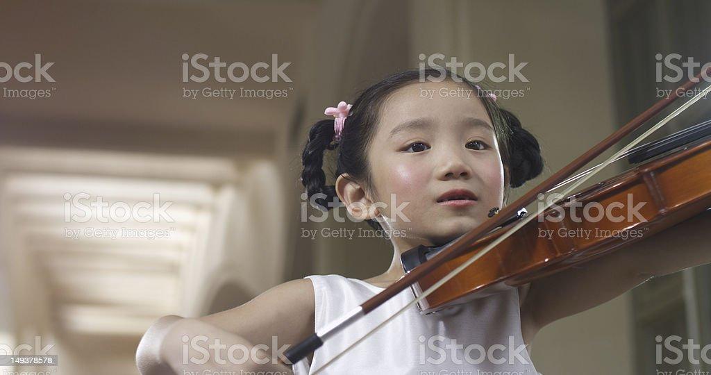 violin girl stock photo