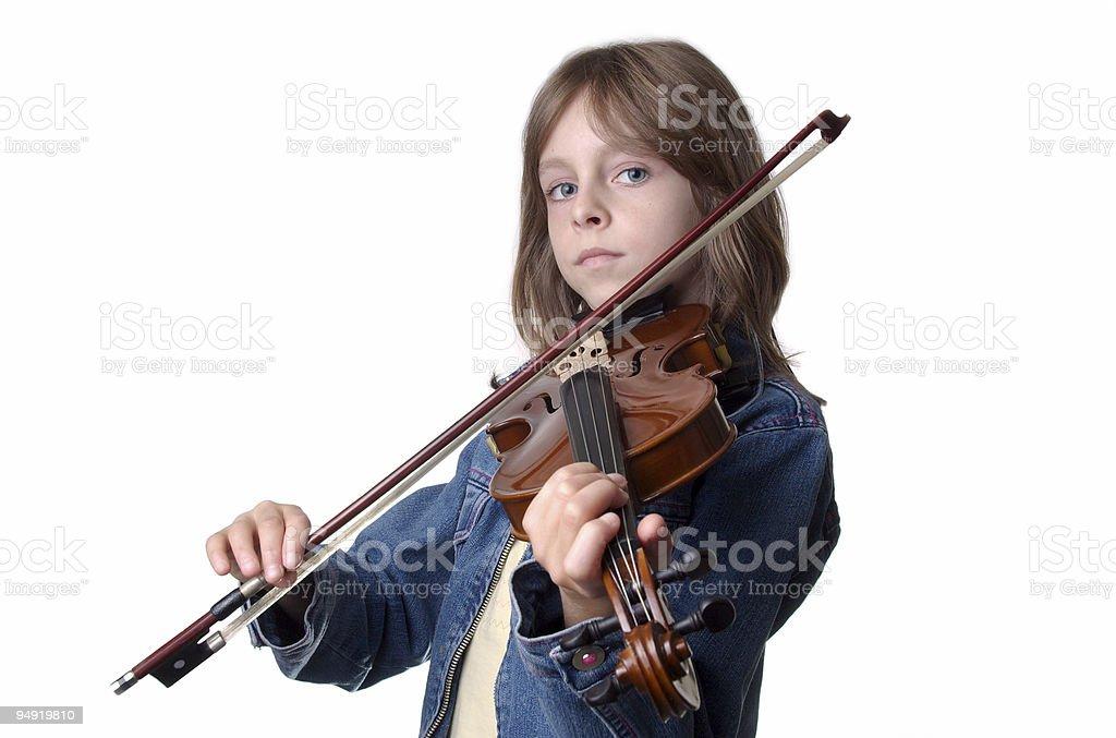 Violin girl royalty-free stock photo