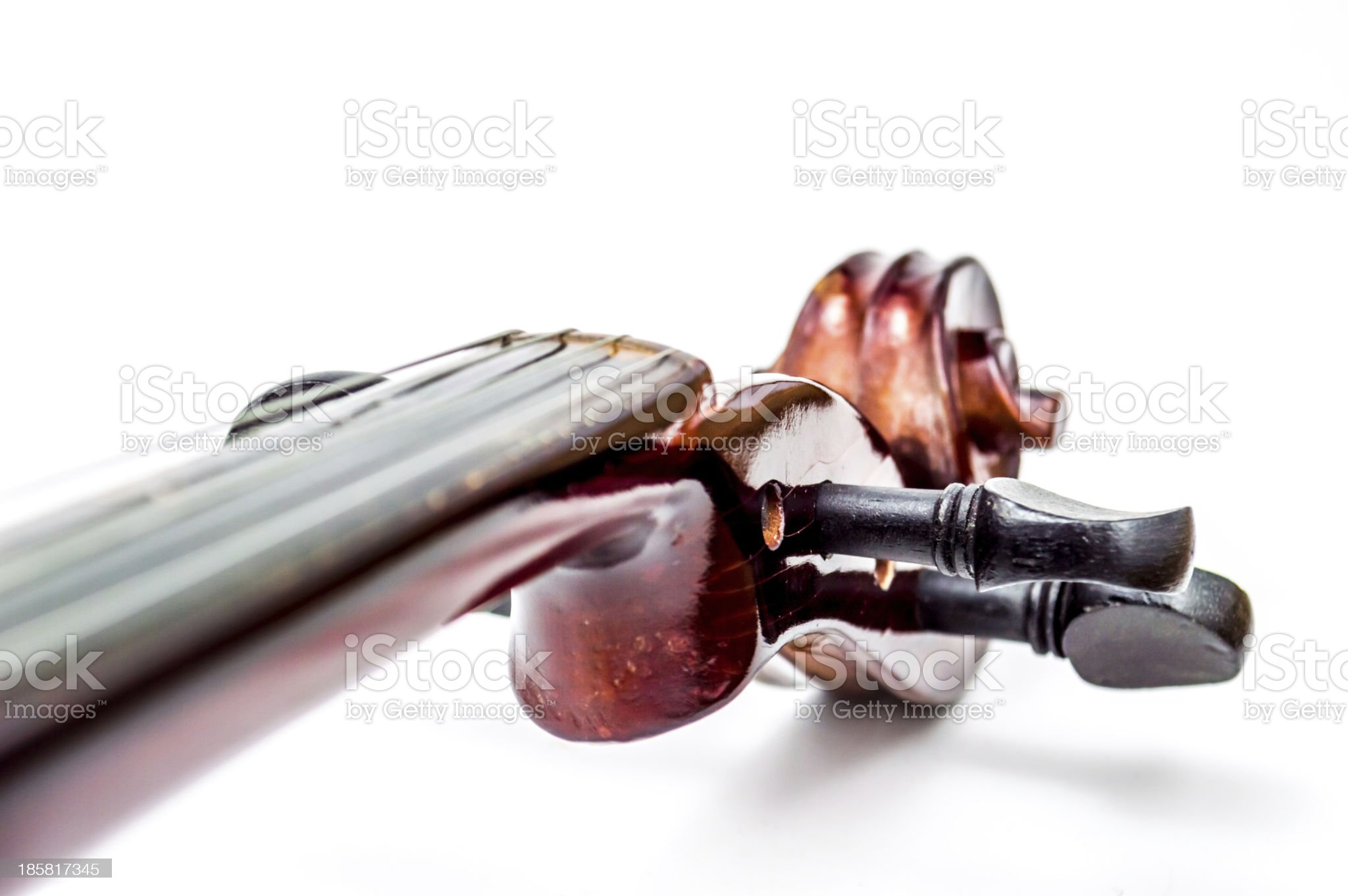 Violin head and  scroll royalty-free stock photo