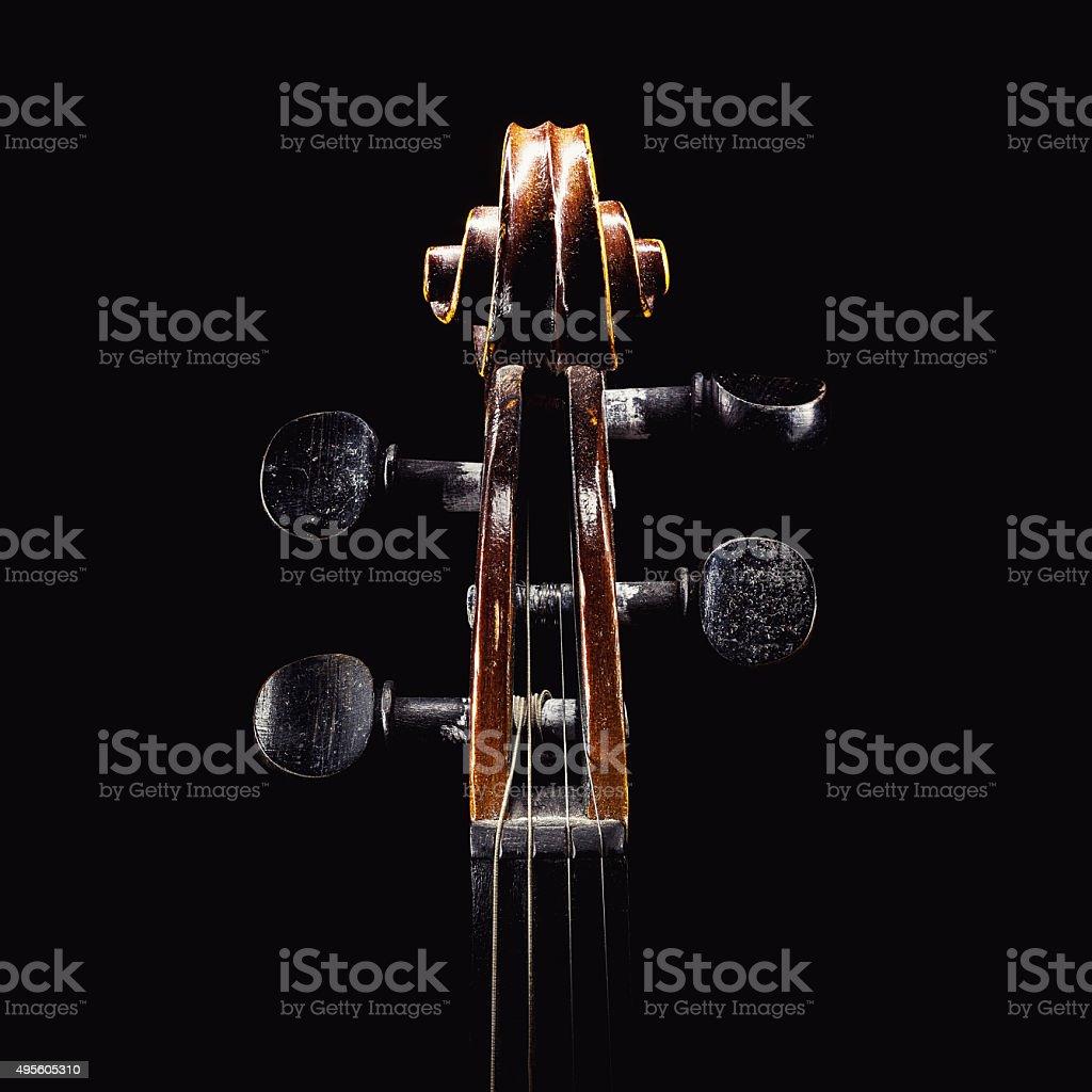 Violin Head Details stock photo