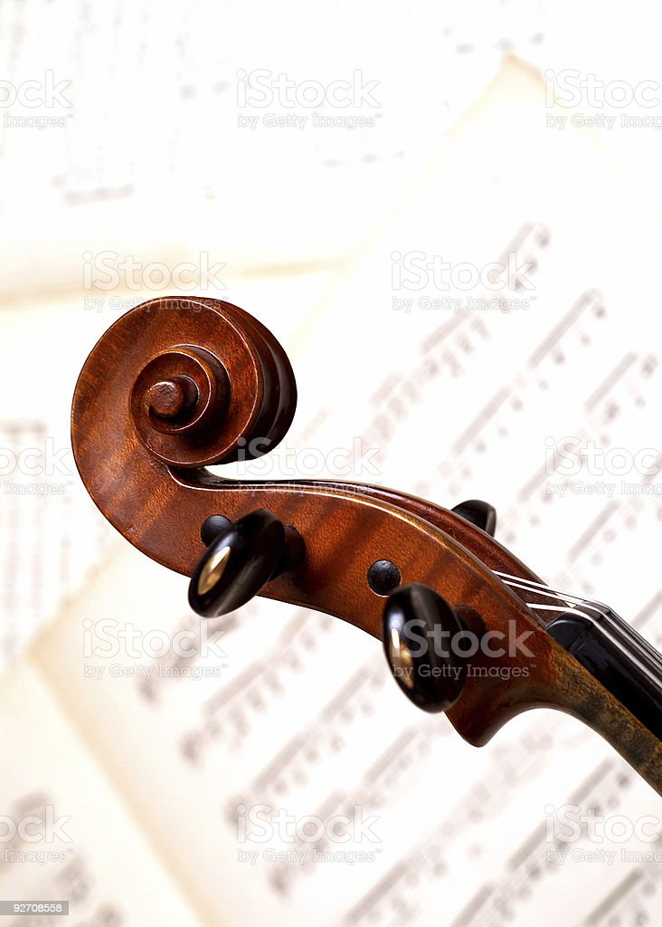 Violine head royalty-free stock photo
