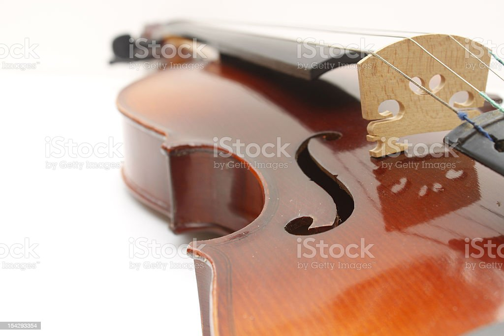 Violin instrument. stock photo