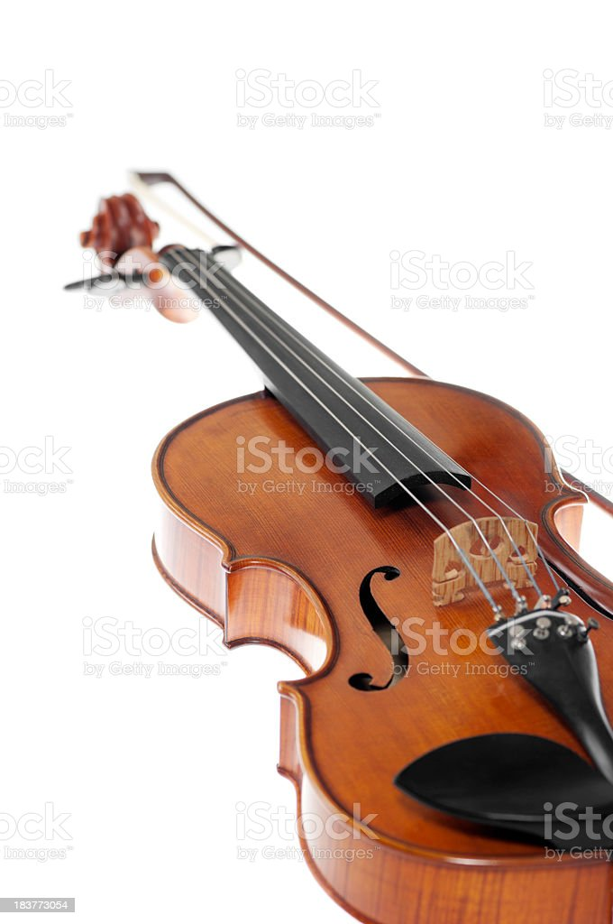 Violin, isolated on white royalty-free stock photo