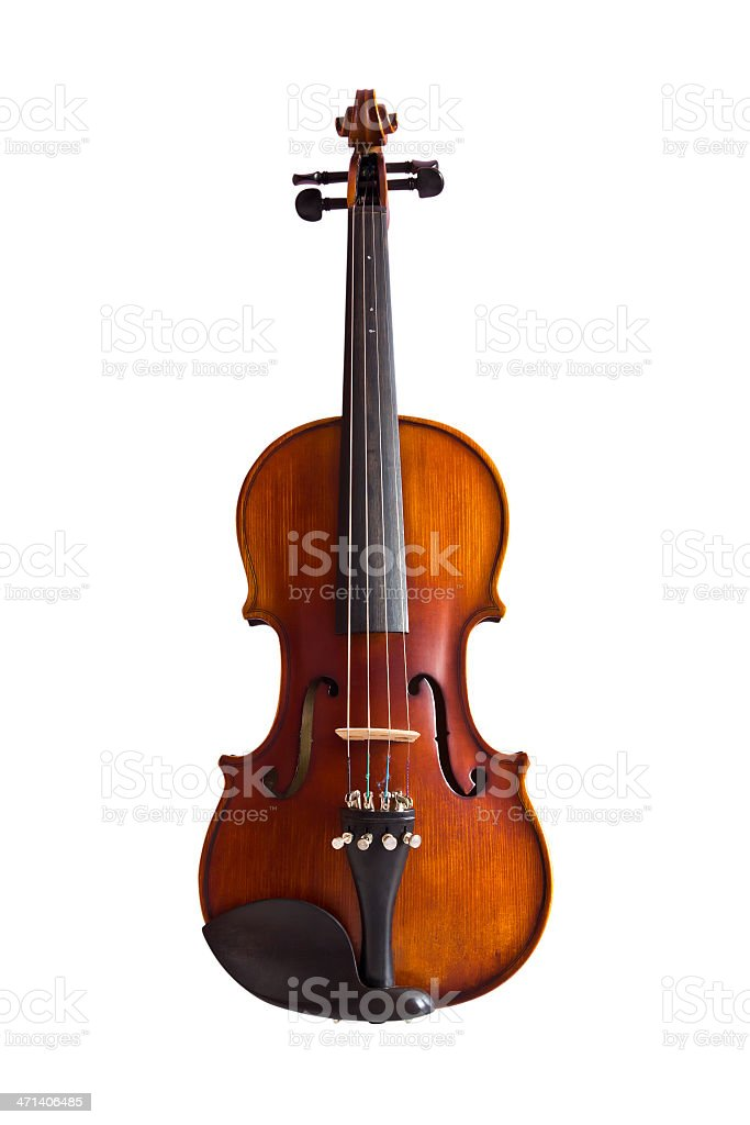 Violino isolato con clipping path foto stock royalty-free