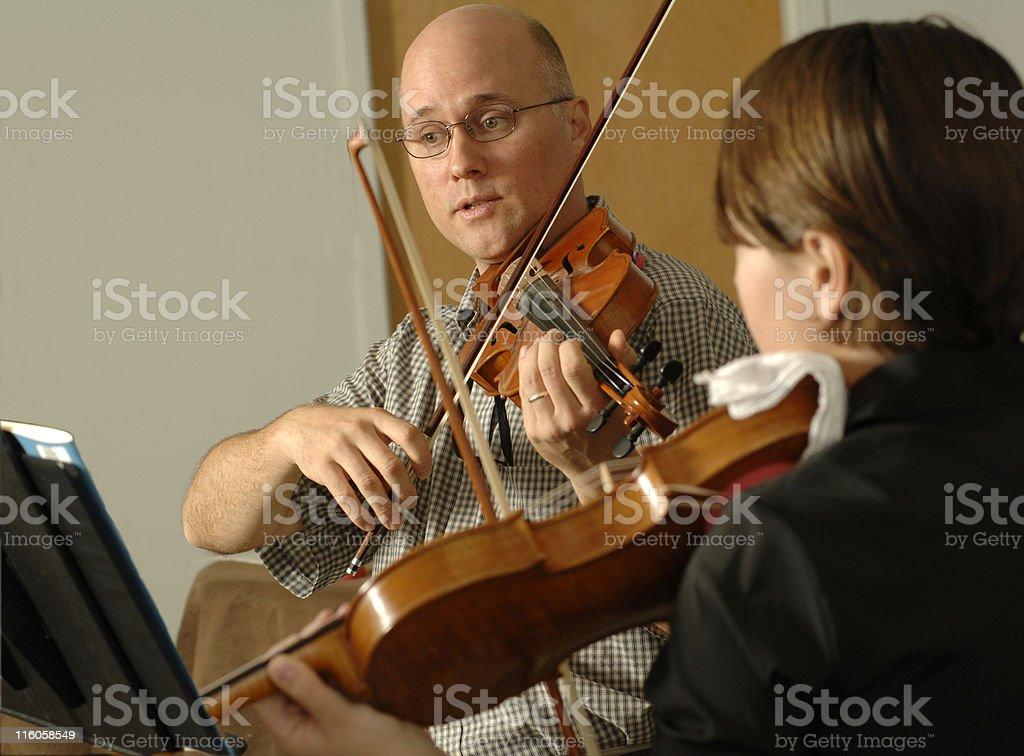 violin lessons stock photo
