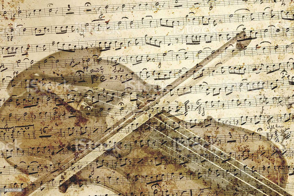 Violin musical note background royalty-free stock photo