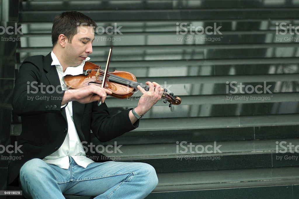 Violin musician stock photo