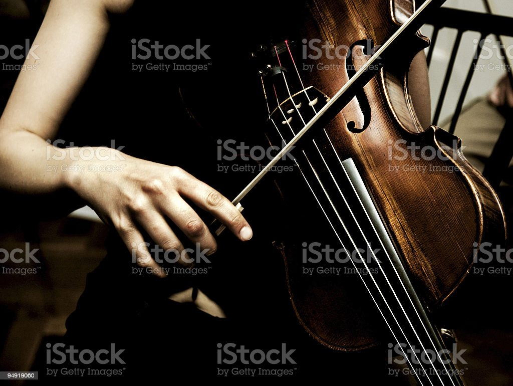 Violin musician stock photo