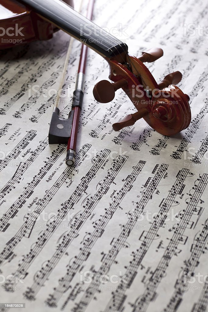 Violin on Music stock photo