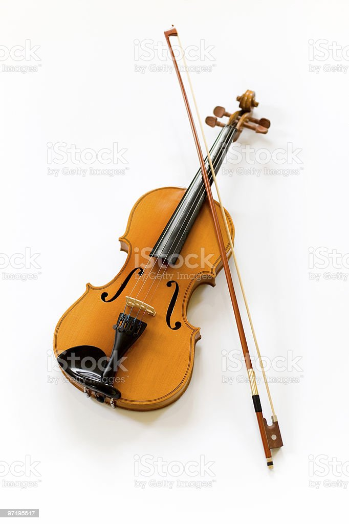 Violin on white background royalty-free stock photo
