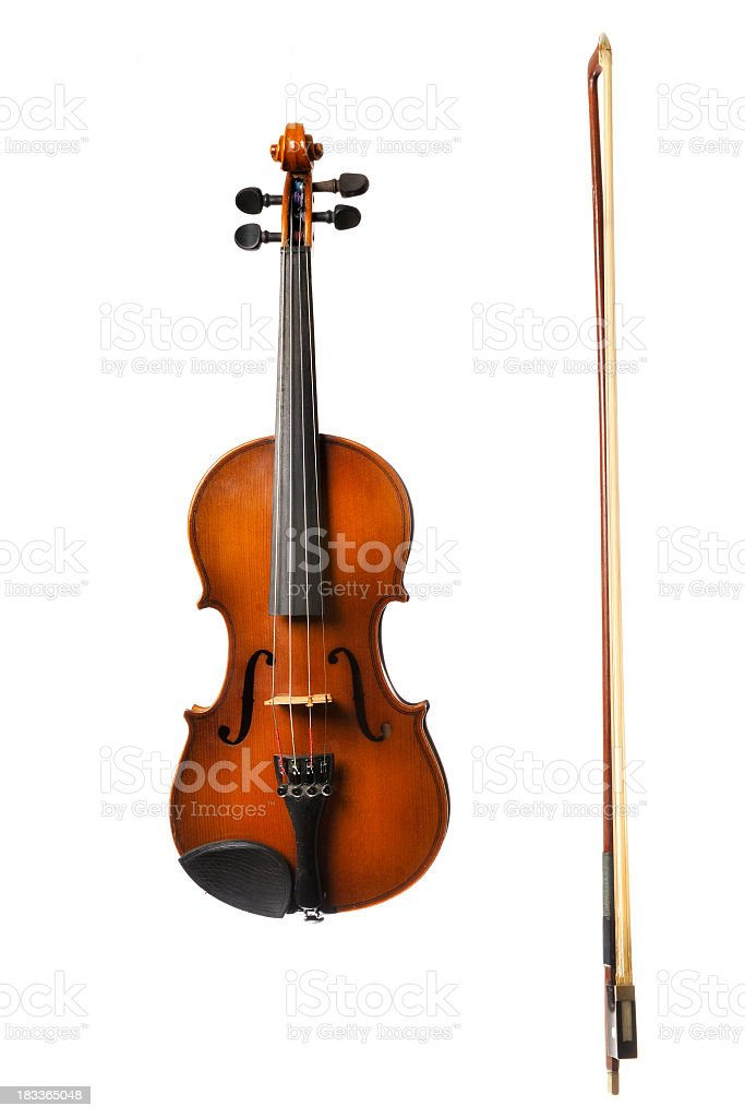 Violin on white stock photo