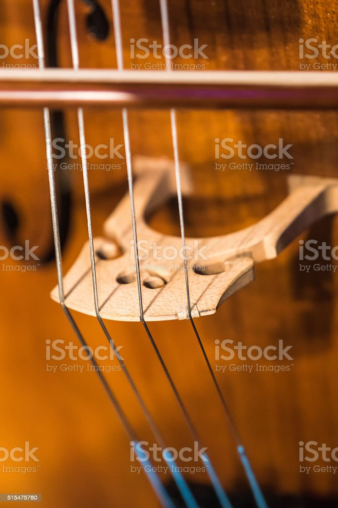 Violin on wooden background stock photo