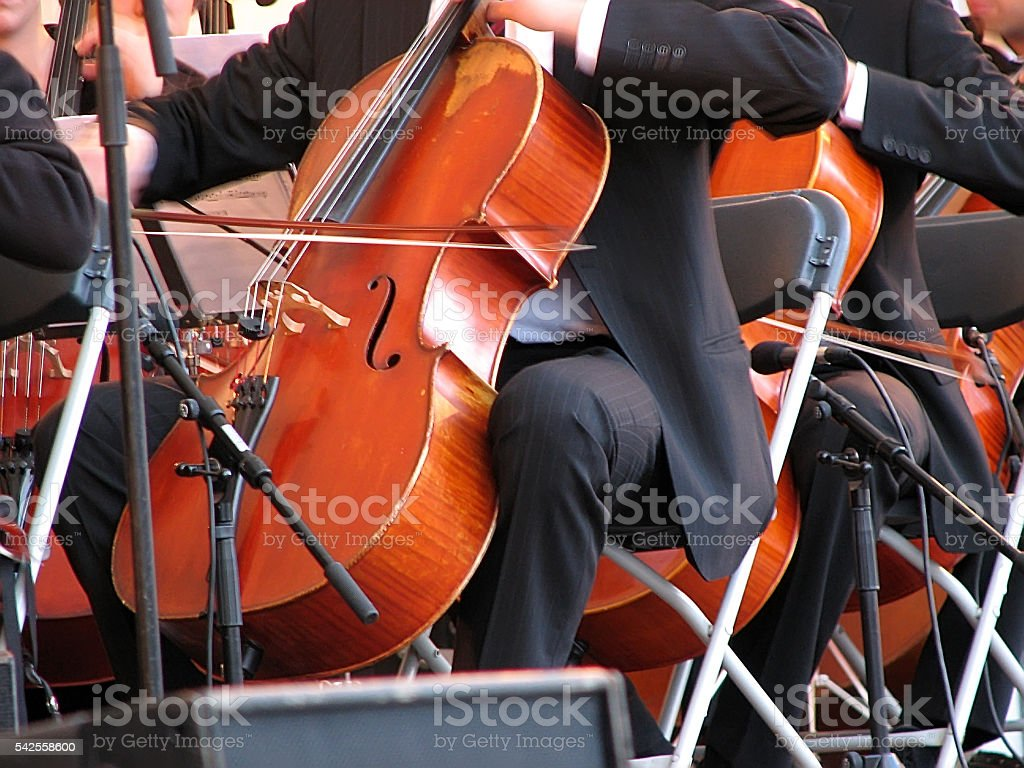 Violin performance stock photo