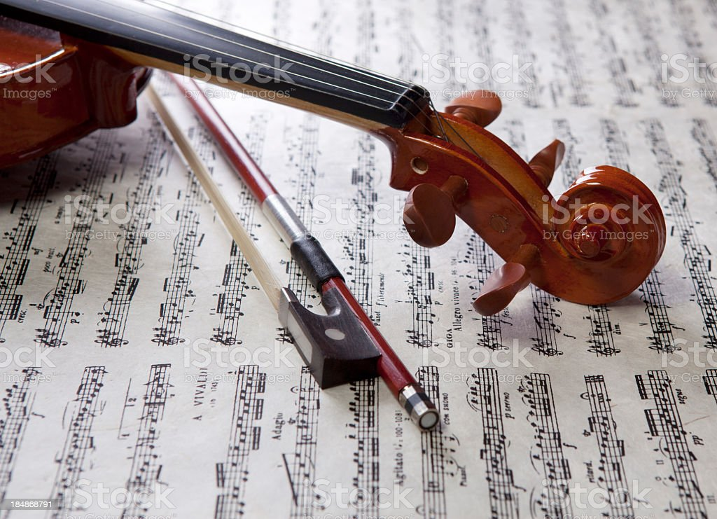 Violin stock photo