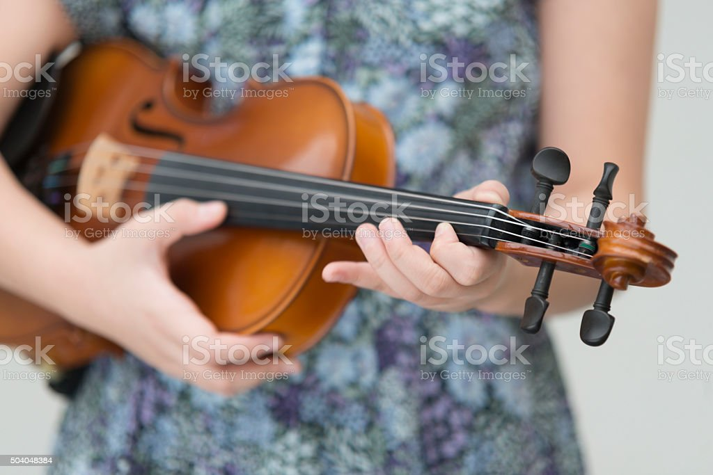 Violin Pizz stock photo