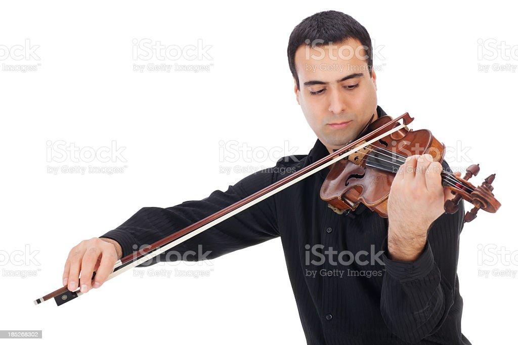 Violin player stock photo
