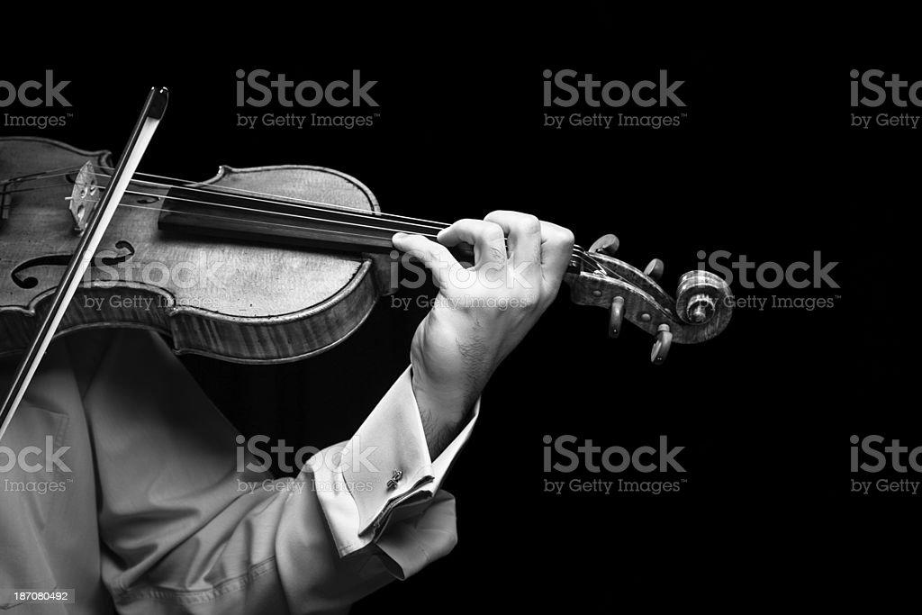 Violin player royalty-free stock photo
