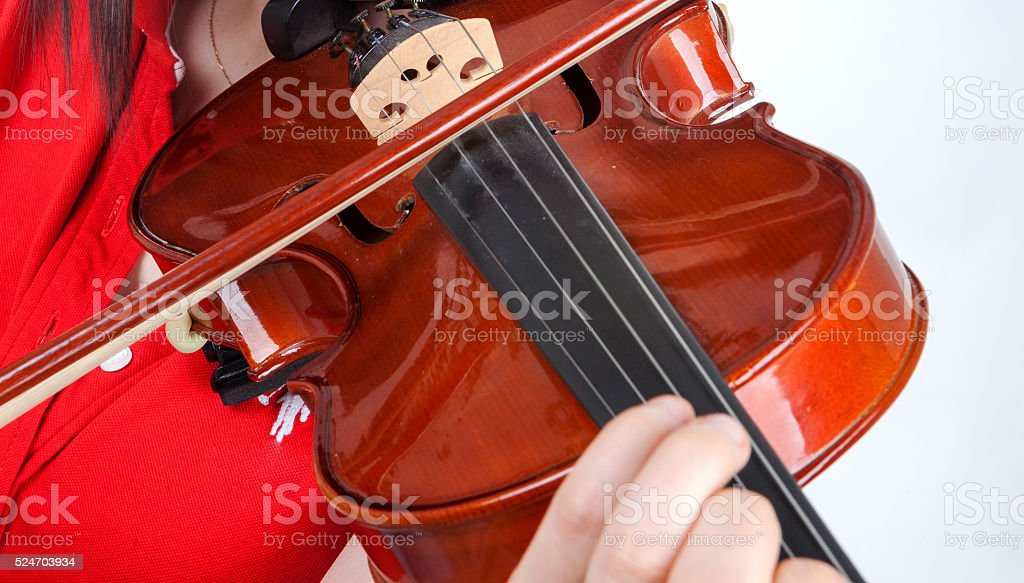Violin playing stock photo