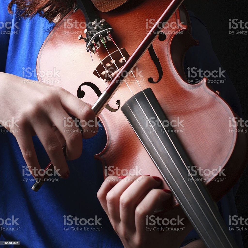 Violin playing violinist musician stock photo