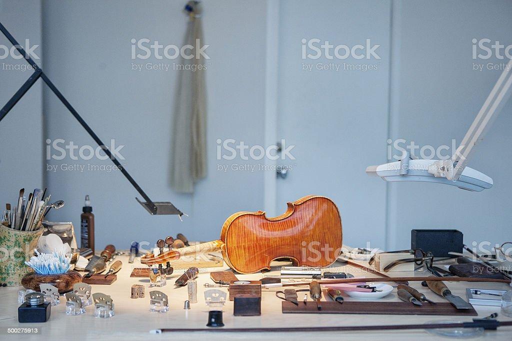 Violin Repair stock photo