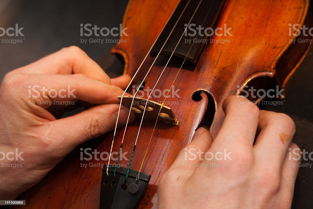 Violin repairs royalty-free stock photo