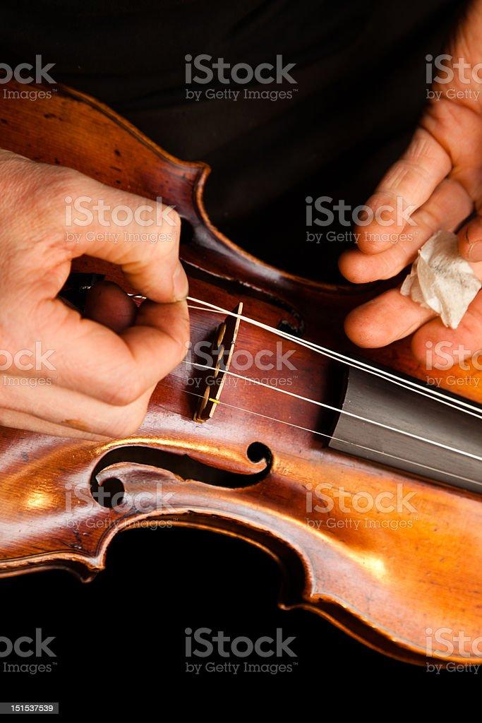 Violin repairs royalty-free stock photo