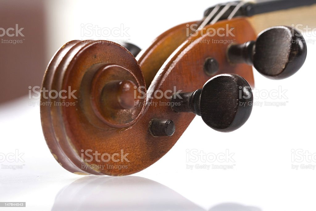 Violin Scroll royalty-free stock photo