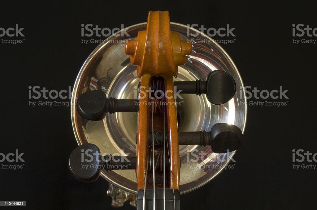 Violin & Trumpet royalty-free stock photo