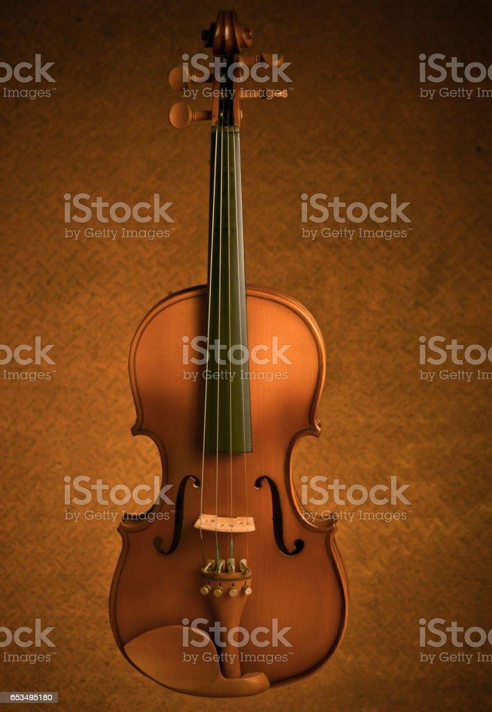 violin vintage in old steel background stock photo