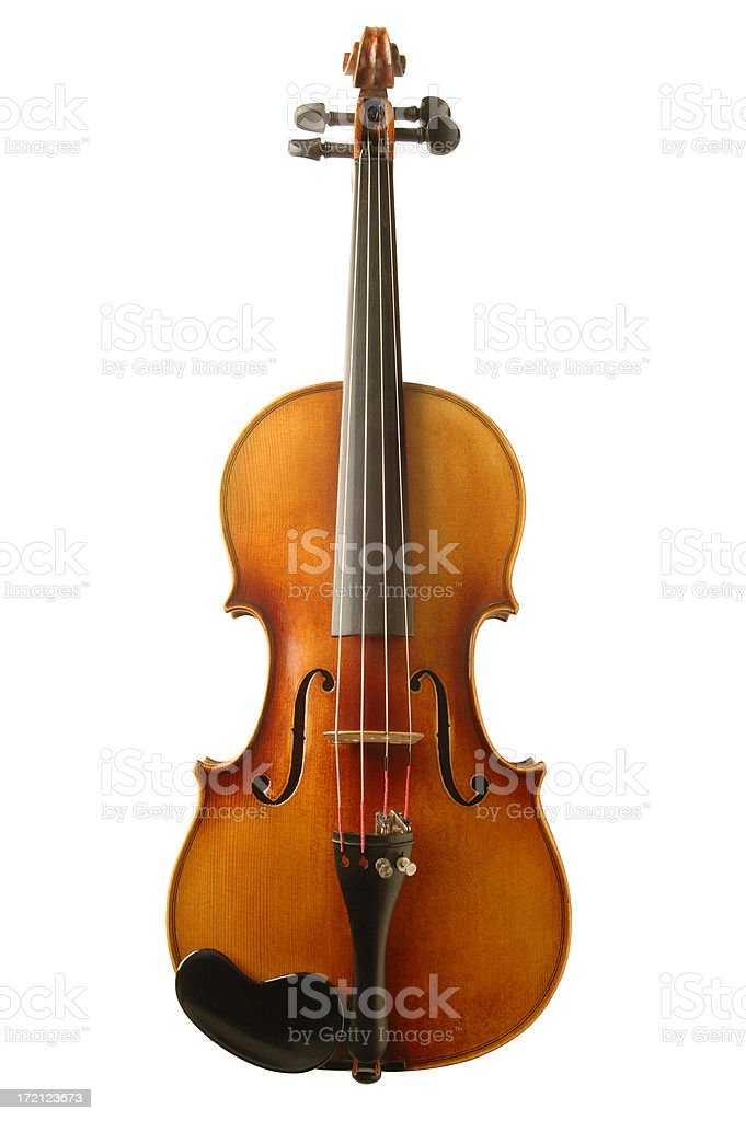 Violin with Path stock photo