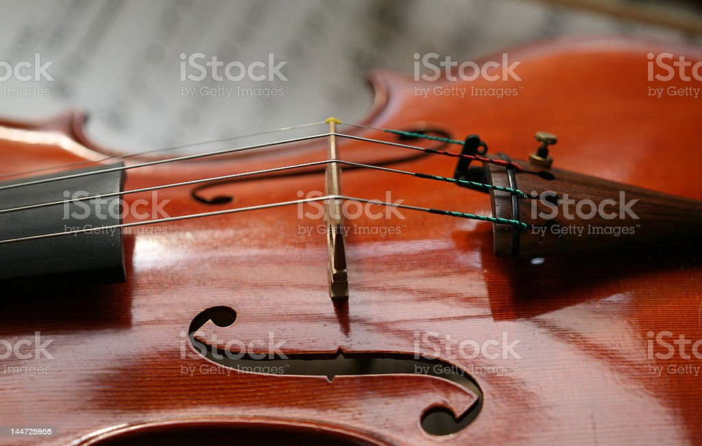 violin with sheet of music_2 stock photo