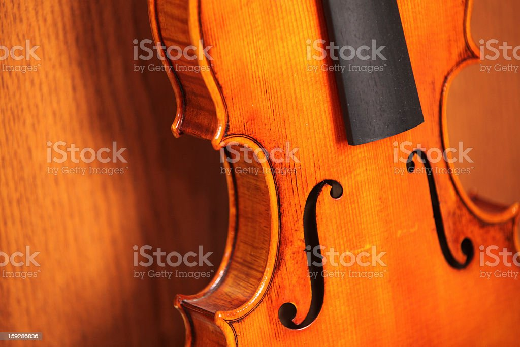 Violin Without Strings royalty-free stock photo