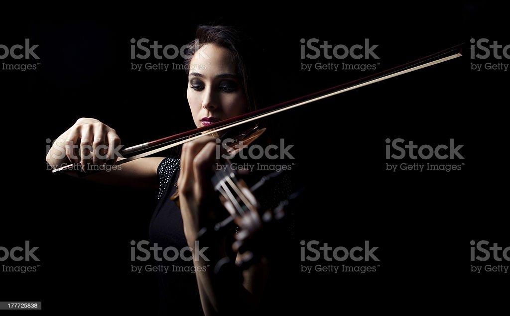 violinist girl stock photo