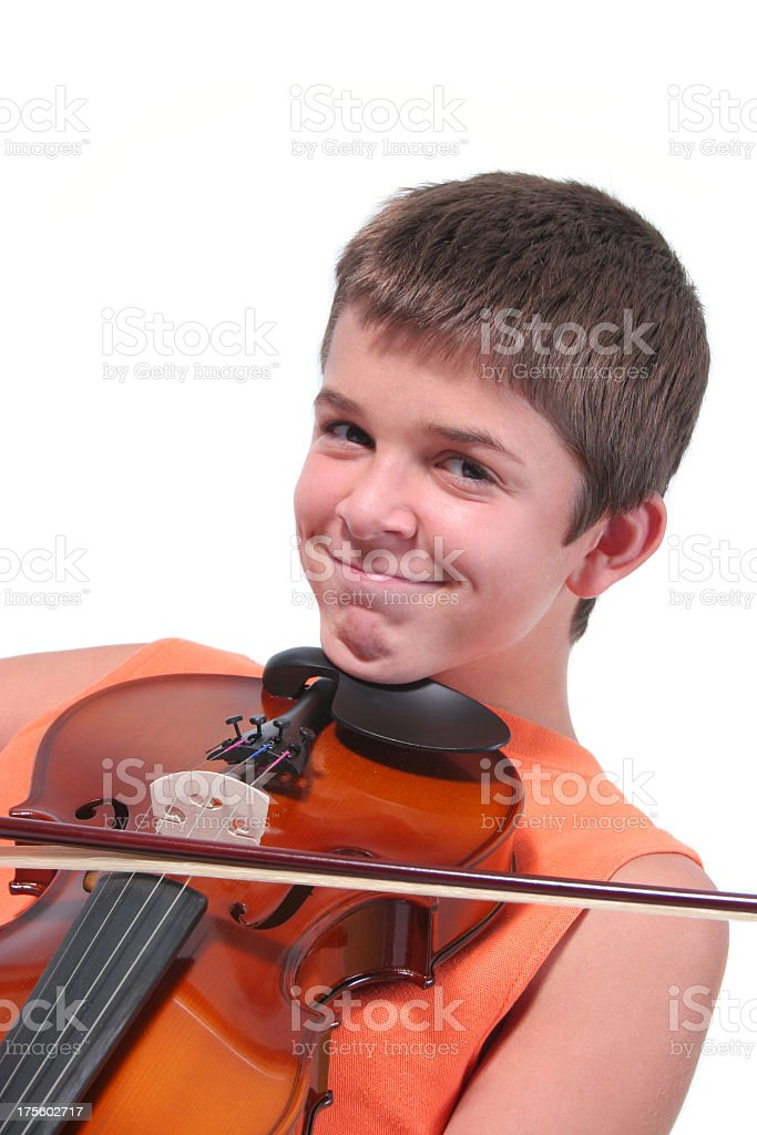 Violinist royalty-free stock photo