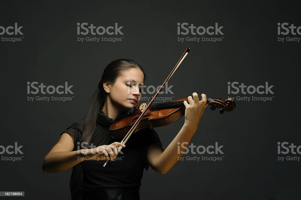 violinist stock photo