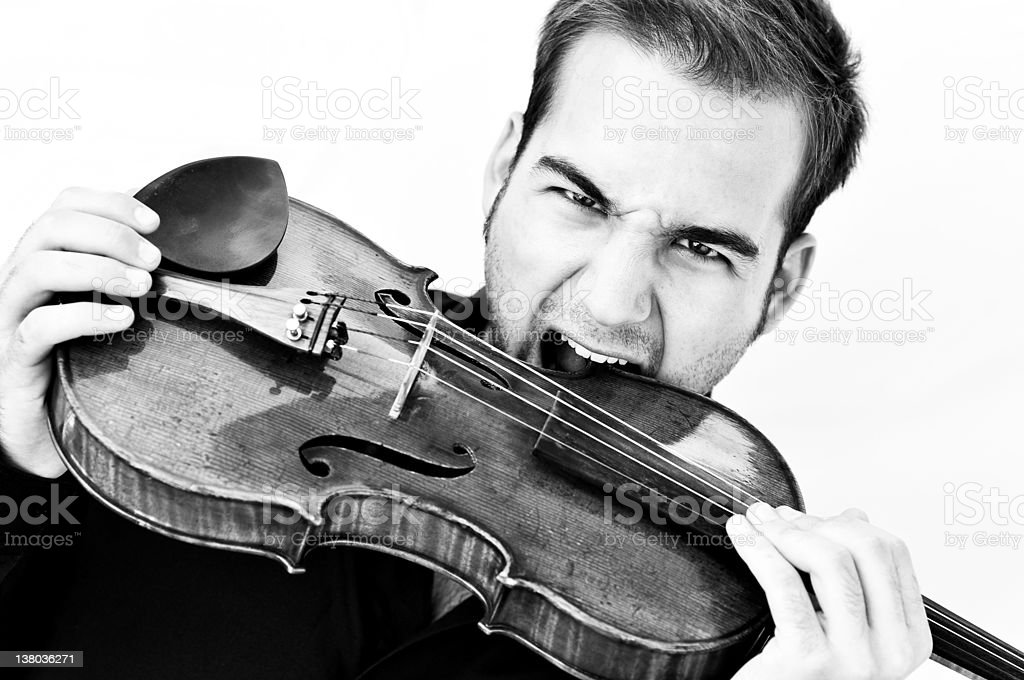 violinist with violance stock photo