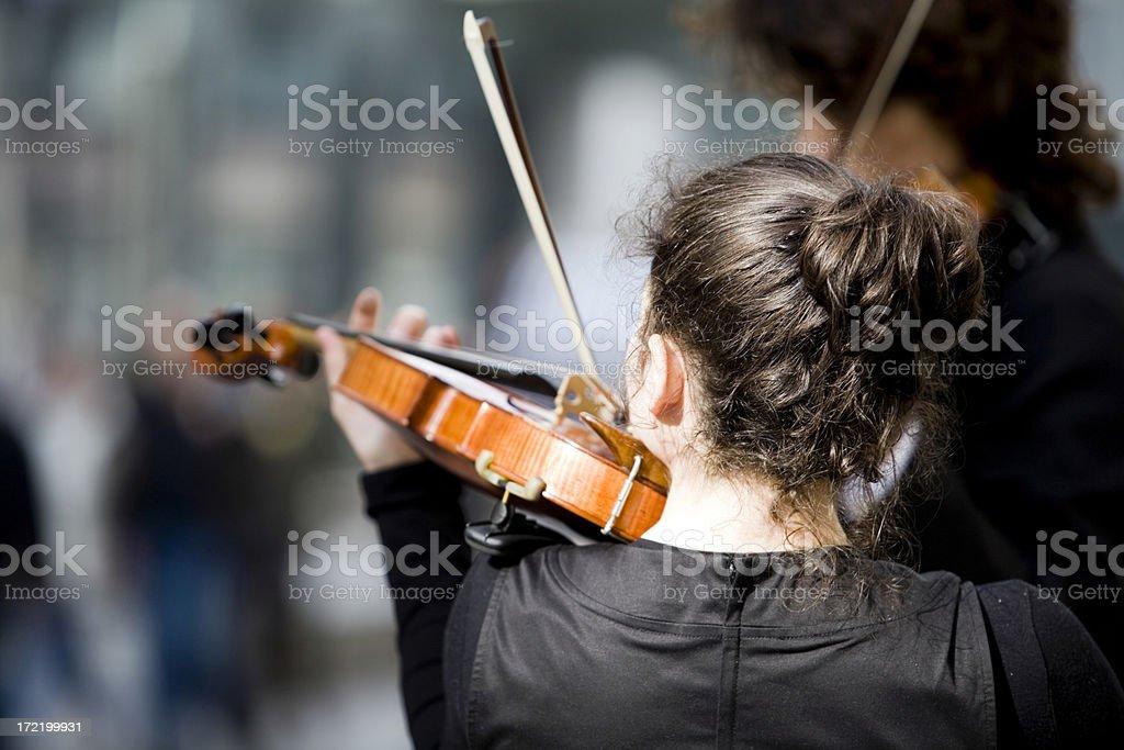 Violinists stock photo