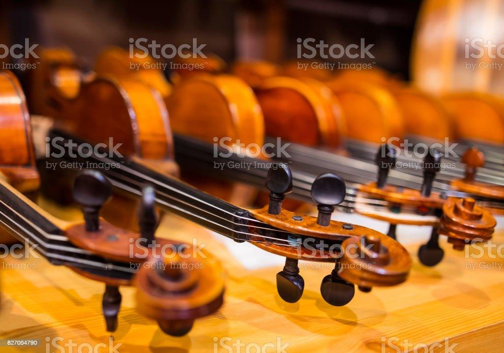 Violins stock photo