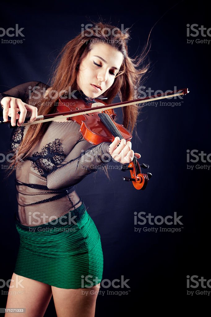 Violist stock photo