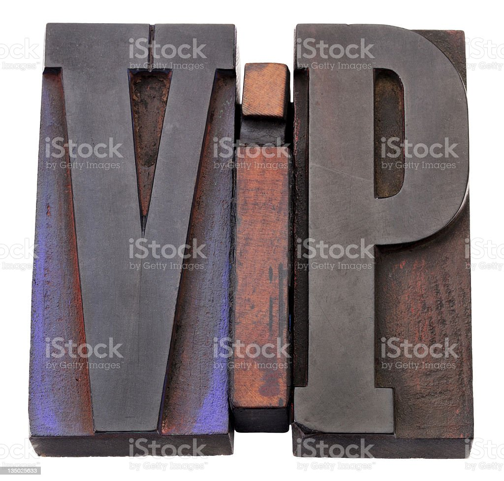 vip (very important person) acronym royalty-free stock photo